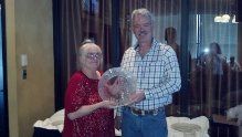 """2012 Year End Awards. Cam Casby receiving her award for MN 4 Yr. Old and Up """"CS ARC LIGHT"""""""