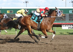 HOLLYWOOD TRICKSTER_Skip Zimmerman Stakes_05-28-12_CBY_Finish