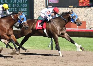 JESS LIKA BLAIR_North Central Quarter Horse Racing Association Futurity_08-05-12_CBY_Finish