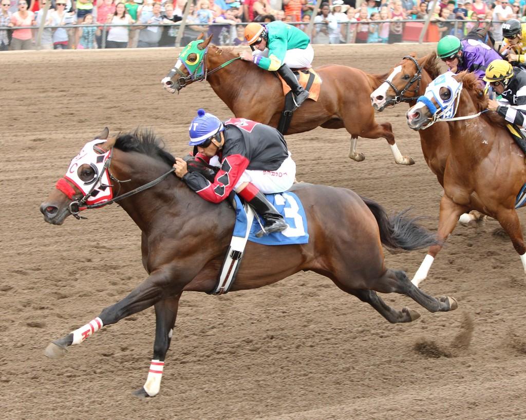 Kool Wagon - Dash In A Flash Stakes - 07-19-14 - R02 - CBY - Inside Finish